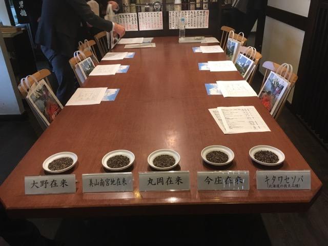 福井の在来種を味わう「ふくいそばを食す会」が東京神楽坂の九頭龍蕎麦にて開かれました。