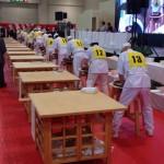 全国から52名の選手が一同に集まって日頃のそば打ちを披露する、第18回全日本素人そば打ち名人大会が行われました。