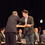 第4回「福井ふるさと企業表彰」ものづくり部門の優秀賞にそば粉製造業としてカガセイフンが選ばれました。