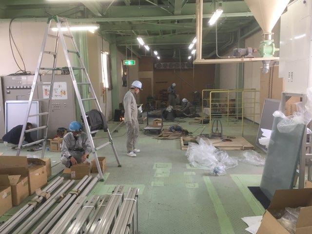 カガセイフン改修工事(62日目)石臼・新設備配置