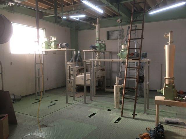 カガセイフン改修工事(69日目)新設備配置、窓入れ替え