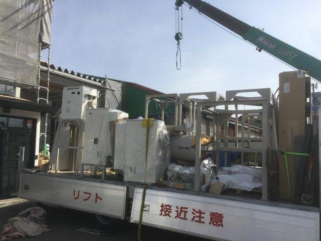 カガセイフン改修工事(58日目)新規設備・機材搬入