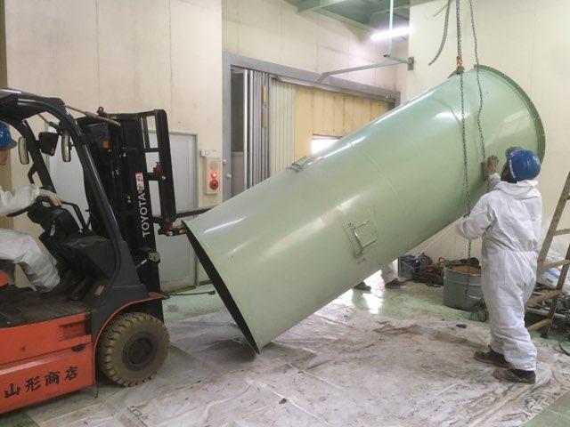 カガセイフン改修工事(39日目)後半解体終了、間仕切り扉設置