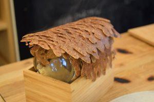 We talk about galette,farine de sarrasin.Creperie du Chateau,14.