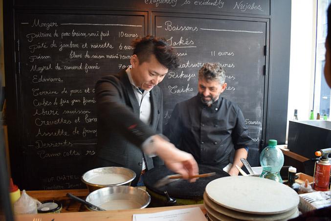 We talk about galette,farine de sarrasin.Creperie du Chateau,10.